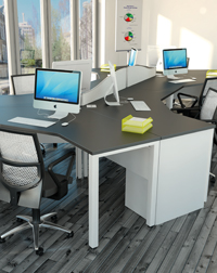 This Pure Cluster by Imperial is a stylish addition to any office work space