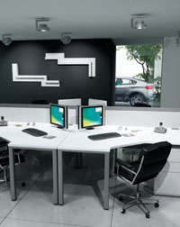 This Imperial Pure office furniture is great for small work spaces