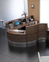 This Imperial office recepetion is small and compact, and modern