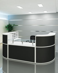 This Reception area from Imperial is a stylish addition to any office