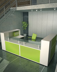 This Imperial Reception area makes a great impression to any office visitors