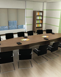 This Boardroom and Storage from Imperial is a great addition to any office
