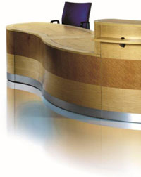 This sleek Reception Desk from Imperial looks great to any visitors to your office