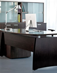 The Intuition desk by Verco is a stylish addition to any office