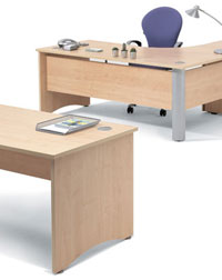 This Visual 3 Desking from Verco makes stylish office furniture