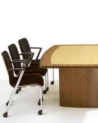 This Boardroom with Profile Seating from Verco looks great in any office space