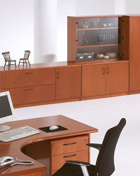 This Storage Unit and Desk from Verco is the perfect solution in any office