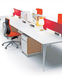 The DNA Bench from Verco makes stylish office furniture