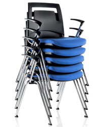 These Fly Stack Chairs from Verco are a great space-saver in any office