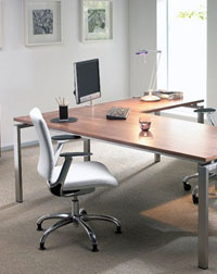 The Oblique Intuition desking range from Verco are a simple yet stylish office furniture range