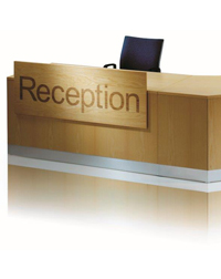 This Eborcraft reception desk makes a great impression to office visitors