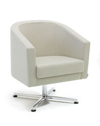 The Roma Seating range from Verco looks great in any office work space