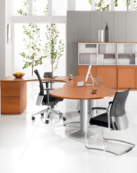 This Hawk meeting desk and storage unit is great in any office