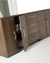 This Hawk side cabinet makes great office furniture