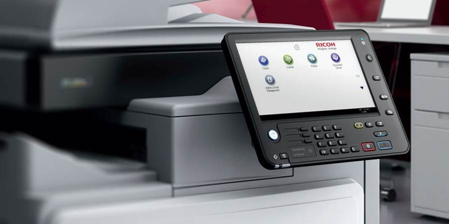Ricoh multifunction printer and scanner